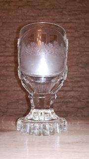 Pokal, «Das letzte Abendmahl», wohl Gablonz, Isergebirge, um 1840. Glaskunstgalerie Raphael