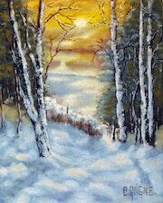 Scène d'hiver. C. Guigné.