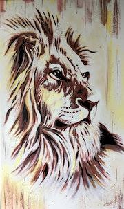 Le lion de la savane.