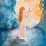 Peinture abstraite acrylique décorative Nimsky. Florence Féraud-Aiglin