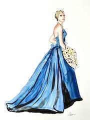 Une robe Pierre Balmain de 1953. Dimitri Salon