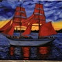 Ship painting Seascape Ship And Sea oil painting, by joky kamo.