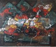 Abstracto polifacético. Edgar Calderón