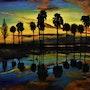 Paysage aux Palmiers peinture paysage, par joky Kamo. Joky Kamo