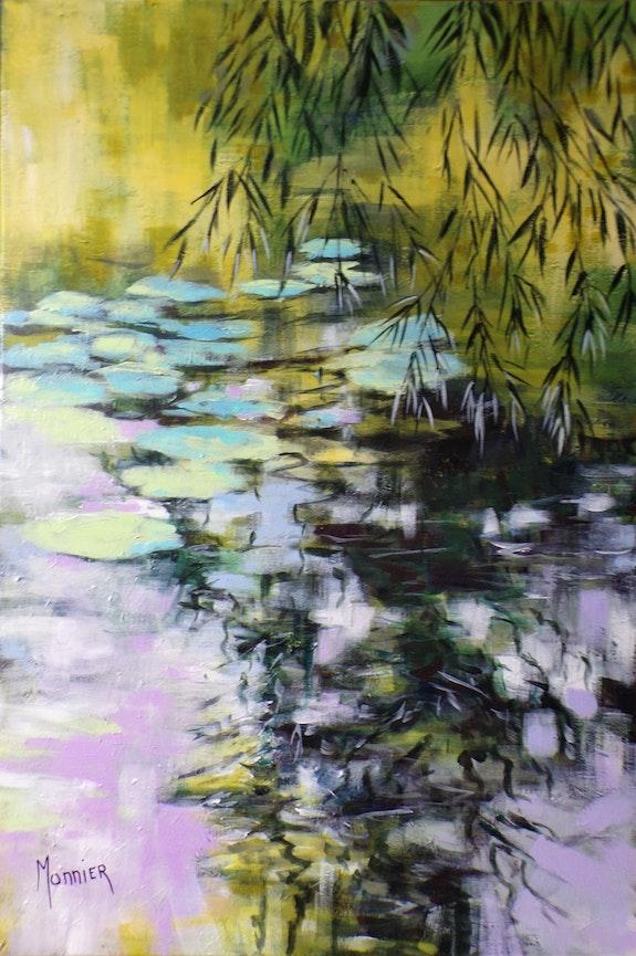 Esprit d'eau ou reflets aux nymphéas. Cathy Monnier Cathy Monnier