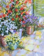 Pots en terrasse II. Cathy Monnier