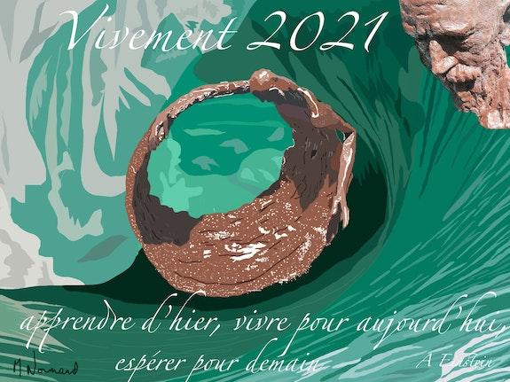 Vœux 2021 - Jonas dans la tempête. Michel Normand Michel Normand