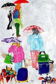 51- Cangrejos en la Lluvia. Dibujos..