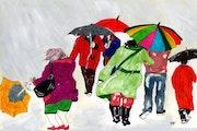 52- Lluvia y Viento. Dibujos..