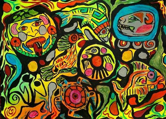 Mayan Dreamscape. George Hutton Hunter George Hutton Hunter