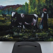 Vaches peinture, Signée par Joky kamo.