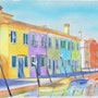 A Fairy Winter Day in the Burano Island. Fairy Tales