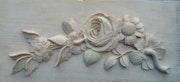 Bas relief de fleur style Louis XVI. Pierre Farago
