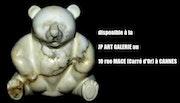 Ourson en marbre Calacatta de Carrare. Jean-Michel Garino