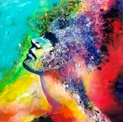 The artist brain - 100 cm X 100 cm. Exklusive-Art