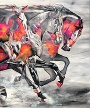 Dynamik - 140 cm X 170 cm - Siegerbild des Kunst-Online Preises 2020. Exklusive-Art