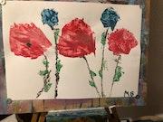 Fleurs dans le vent. Michel Barbaud