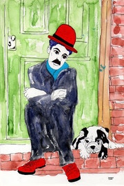 70- Charlot y Chico. Dibujos..