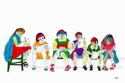 76- Pequeños Lectores. Dibujos.. Carmen Luna