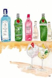 68- Quieo un Gin-tonic. Dibujos.. Carmen Luna