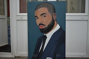 Drake, portrait Oil Painting, Signed By Joky kamo 2020.