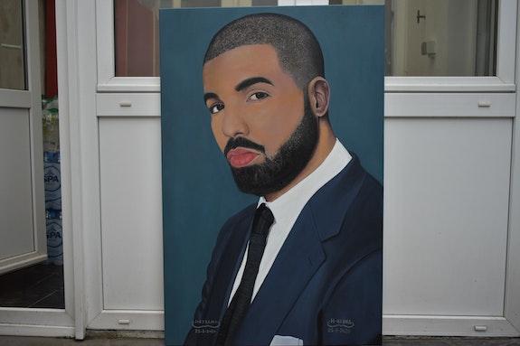 Drake, portrait Oil Painting, Signed By Joky kamo 2020. Joky Kamo Joky Kamo