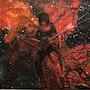 Guitariste Michael Angelo Batio Peinture à l'huile sur toile par Joky kamo. Joky Kamo