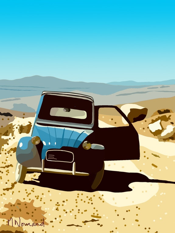 2Cv (1965) Jordanie-sur la piste de Pétra. Michel Normand Michel Normand