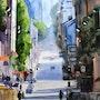 La rue Ménilmontant à Paris. Adyne Gohy
