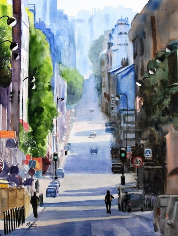 La rue Ménilmontant à Paris. Adyne Gohy Adyne Gohy