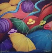 Hut und Regenschirm..