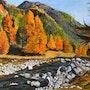Paysage d'automne en montagne. Andre Blanc