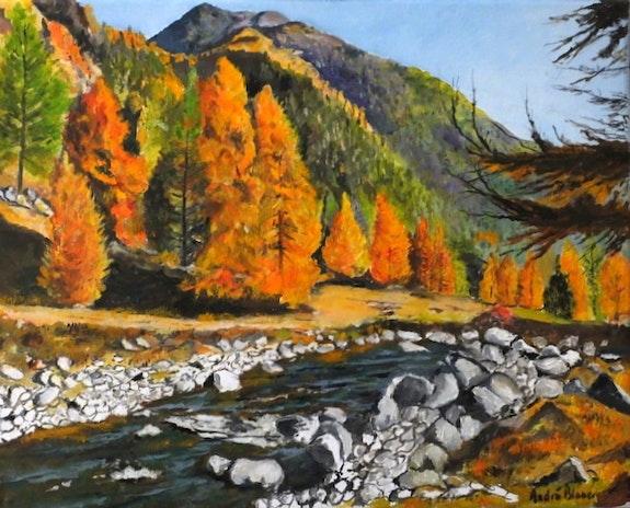Paysage d'automne en montagne. André Blanc Andre Blanc