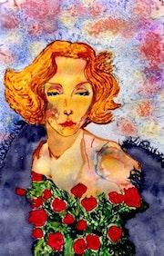 8- Marlene entre rosas rojas. Marlene Dietrich.. Carmen Luna