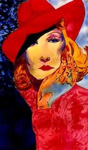 17- Marlene esperando el avión. Marlene Dietrich.. Carmen Luna