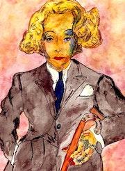 19- Marlene con bastón. Marlene Dietrich.. Carmen Luna