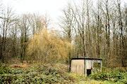 Bicoque, cabane de chasseur dans les bois.