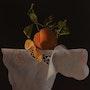 Orange and white cloth.