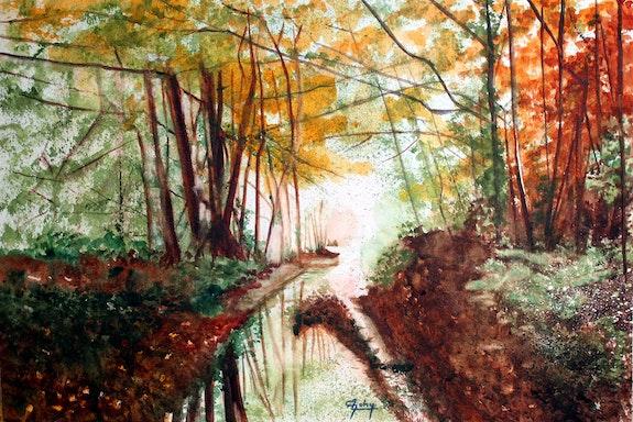 Lumière d'automne d'après une photo de Michel Guillet. Adyne Gohy Adyne Gohy