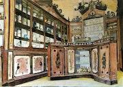 Pharmacie style art nouveau.