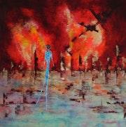 Solitude… Artiste Peintre Nantes. Anne Sophie Artiste Peintre Nantes
