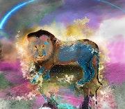 Lion (signe astrologique) de feu. Ferrokaro