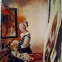 La liseuse d'après Vermeer. Mioara Gaubert