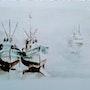 Bateaux dans la brume. Mioara Gaubert