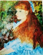 Jeune fille d'après Renoir. Mioara Gaubert