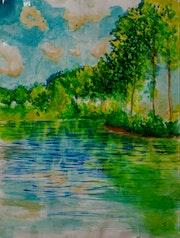 «Un intento por hacer un Monet». Adel Tapia