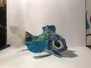 Poisson vert et bleu. Atelier Torpen