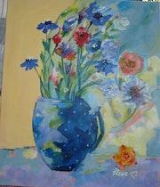 Fleurs en vase.