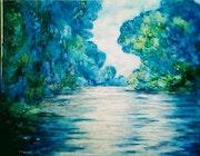La rivière d'après Monet.