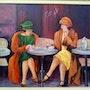 Les dames au café. Mioara Gaubert